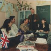 Занятие факультета лингвистики с преподавателем-англичанином Рачардом Бетсом